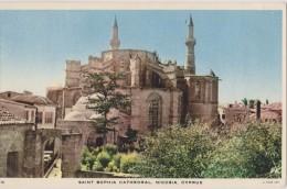 Carte Ancienne,CHYPRE,KIBRIS,CYPRUS,cathedrale Sainte Sophie ,cathedral Saint Sophia - Chypre