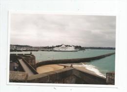 photographie , 15 x 10 , SAINT MALO , bateau , paquebot , BRITTANY FERRIES
