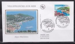 = Série Touristique Enveloppe 1er Jour Villefranche Sur Mer 4.6.05 N°3802 Vue D'ensemble: Rade, Port, Baie Et Bateaux - FDC