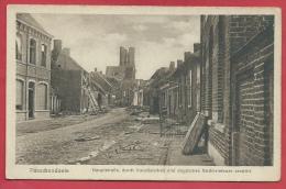 Passendale - HauptsraBe, Durch Französisches Und Englisches Artilleriefeuer Zerstört ( Verso Zien ) - Ieper