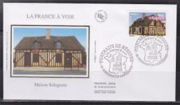 = Portrait De Région France à Voir Enveloppe 1er Jour Romorantin Lanthenay 17.09.05 N°3820 Maison Solognote - FDC