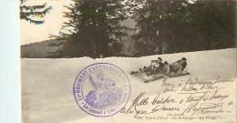 Sport D'Hiver - ** Bobsleighs ** - 2 Beaux Cachets Du 11 ° Rgt; D'Artillerie - Cpa En Bon état. - Sports D'hiver