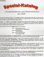 DDR-Katalog Teil 1+2 RICHTER 2015 50€ ZD-Varianten,Zierfelder+Markenhefte Se-tenant+booklet Special Catalogue Of Germany - Scrapbooking