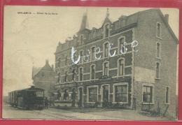 Melreux - Top Carte - Tram Vapeur Et Hôtel De La Gare - 1922 ( Voir Verso ) - Hotton