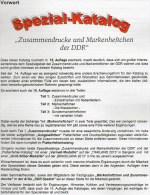 DDR-Katalog Teil 1+2 RICHTER 2015 50€ ZD-Varianten,Zierfelder+Markenhefte Se-tenant+booklet Special Catalogue Of Germany - Telefonkarten
