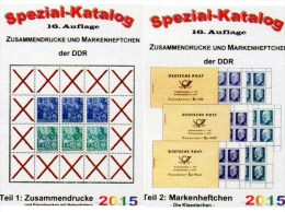 Part 1+2 RICHTER 2015 DDR Katalog 50€ ZD-Varianten,Zierfelder+Markenhefte Se-tenant+booklet Special Catalogue Of Germany - Telefoonkaarten