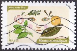 Oblitération Moderne Sur Adhésif De France N° 1044 - L Odorat - Plantes Aromatiques - France