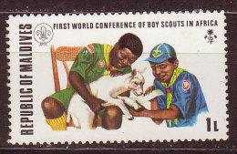 MALDIVES - 1973  - YT N° 421 - **  - Scoutisme - Maldives (1965-...)