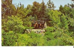 Disneyland The Magic Kingdom  Burning Settler's Cabin A Grim Reminder Of The Hostile Indian Raiding Party - Disneyland