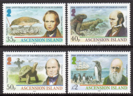 ASCENSION. 2009 CHARLES DARWIN BICENTENARY SET MNH. - Ascensione