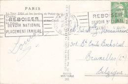 75 - Paris - La Tour Eiffel (flamme Reboiser, 809) - Storia Postale