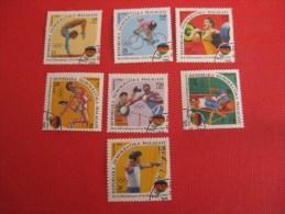 Madagascar, JO Barcelone 92, Gymnastique, Saut, Cyclisme, Haltérophilie, Boxe, Tir à L´arc - Estate 1992: Barcellona
