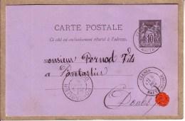HAUTE SAVOIE - CLUSES - CAFETIER - CAFE - ABSINTHE - COMMANDE DE F. PONCET A PERNOD FILS , PONTARLIER - 1885 - Cluses