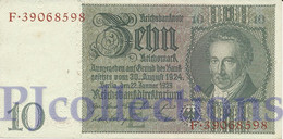 GERMANY 10 REICHMARK 1929 PICK 180a AUNC - Altri