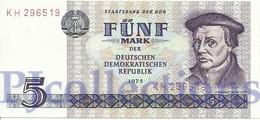 GERMANY DEMOCRATIC REPUBLIC 5 MARK 1975 PICK 27a UNC - [ 6] 1949-1990 : RDA - Rép. Dém. Allemande
