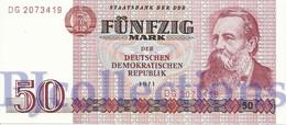 GERMANY DEMOCRATIC REPUBLIC 50 MARK 1971 PICK 30a UNC - [ 6] 1949-1990 : GDR - German Dem. Rep.