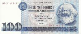 GERMANY DEMOCRATIC REPUBLIC 100 MARK 1975 PICK 31a UNC - 100 Mark
