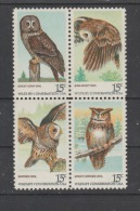 USA 1978  HIBOU    N 1218 / 21  Neuf XX - Unused Stamps