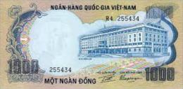 VIET NAM SOUTH 1000 DONG 1972 PICK 34a UNC - Vietnam