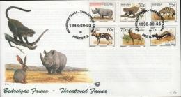 SOUTH AFRICA - FDC THREATENED FAUNA 1993 Mi #896-901 - FDC