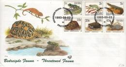 SOUTH AFRICA - FDC THREATENED FAUNA 1993 Mi #890-895 - FDC