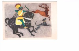 Tir A L' Arc Archer Cavalier Carte De Pologne Plowanie Na Jelenia Stanislaw Rozwadowski - Tir à L'Arc