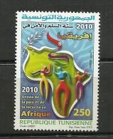 2010-Tunisia- Tunisie-The Year Of Peace & Security In Africa-Année De La Paix Et De La Sécurité En Afrique-1v Complete S - Tunisia