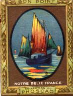 """""""bon Point""""CHOCOLAT  PHOSCAO, Notre Belle France,  LA SORTIE DES BATEAUX DE PECHE , N°9-  (ap11) - Cioccolato"""