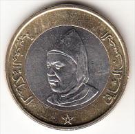 MARRUECOS  1995 10 DIRHAM. HASSAN II  BIMETALICA  NUEVA SIN CIRCULAR .  CN4254 - Marruecos