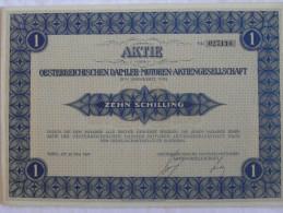 RARE ! Action AKTIE Oesterreichischen Daimler-Motoren-Aktiengesellschaft 100 Zehn Schilling Wien 1927 Vienne Autriche - Automobile