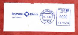 Ausschnitt, Francotyp-Postalia F575536, Rommel-Klinik, 90 Pfg, Bad Wildbad 2009 (23250) - [7] West-Duitsland