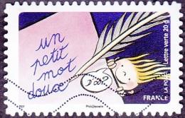 Oblitération Moderne Sur Autoadhésif De France N° 1050 Un Petit Mot Doux, Toute L´année, Sourires - France