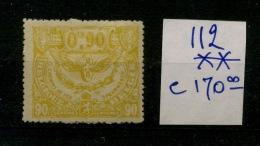 CF 112 **  90c Jaune Neuf SANS Charnière    Cote2019 =  205,- E Et Bon Centrage - Spoorwegen