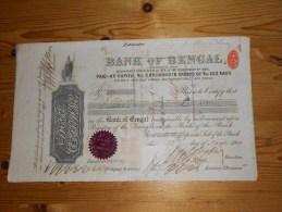 Bank Of Bengal - 1909 - Banque & Assurance