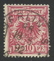Germany, 10 Pf. 1889, Sc # 48, Mi # 47, Used, Berlin - Germany