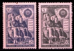 SYRIA / 1966 / EGYPT / ARAB LEAGUE / NUBIA MONUMENTS / RAMSES II / ABU SIMBEL / EGYPTOLOGY / MNH / VF . - Syrien