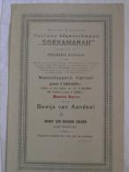Action SOEKAMANAH Soekaboemi CULTUUR MAATSCHAPPIJ 1900 Nederlandsch-Indie EERSTE SERIE Groot 1000f Aandeel Emprunt Titre - Shareholdings