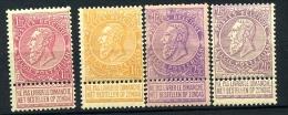 53/67 * Belle Série Fine Barbe Neuve Avec Charnière    Cote 765 Euros Roi Leopold II De Belgique - 1893-1900 Thin Beard