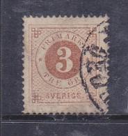 SUEDE N° 16B 3O BISTRE OBL - Suède