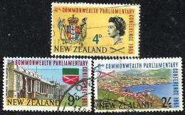 NEW ZEALAND COMMONWEATH CONFERENCE BUILDING LANDSCAPE QEII HEAD SET OF 3 STAMPS 1965 UHD SG835-7 READ DESCRIPTION !! - Nouvelle-Zélande