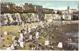 The Sands Broadstairs Early Colour Postcard - Bathing Tents - Other