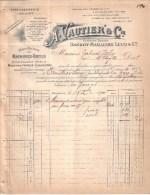 NORD - MAUBEUGE - MACHINES OUTILS - MACHINES A VAPEUR - ANCT DANDOY MAILLIARD LUCQ & CIE -  A. VAUTIER & CIE  - 1900 - France