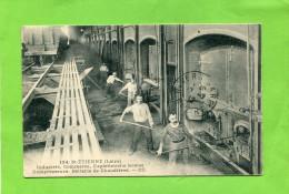 SAINT ETIENNE  1910  METIER  INDUSTRIE COMMERCE  COMPRESSEUR BATTERIE DE CHAUDIERES    CIRC OUI - Saint Etienne