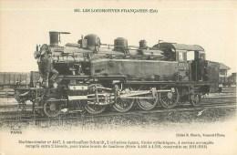 Train - Locomotive De L´Est - N°163 - ** Machine N°4447 ** -  Carte En Bon état. - Treni