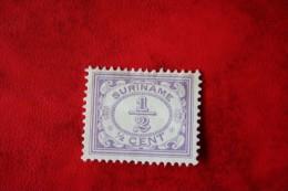 Cijfer Figure Vurtheim 1/2 Ct ; NVPH 69 ; 1913 MH / Ongebruikt SURINAME / SURINAM - Surinam ... - 1975