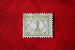 Cijfer Figure Vurtheim 1 Ct ; NVPH 70 ; 1914 MH / Ongebruikt SURINAME / SURINAM - Surinam ... - 1975