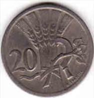 Tchécoslovaquie- Czechoslovakia 20 HALERU 1937, Copper-Nickel - Czechoslovakia