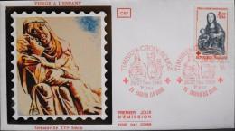 ENVELOPPE 1er JOUR 1983 - Croix-Rouge - Enghien Les Bains Le 26 & 27.11.1983 - Parfait état - - FDC