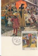 "Czechoslovakia / Cartes Maximum (1970/21 D) Bratislava: Dominik Skutecky (1849-1921) ""Market In Banska Bystrica"" (1889) - Arts"