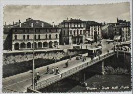 VICENZA - Ponte Degli Angeli - Animata Con Filobus - Auto - Persone In Bicicletta - 1956 - Vicenza